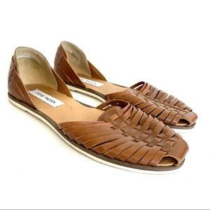 Steve Madden Hillarie Woven Leather D'Orsay Flats